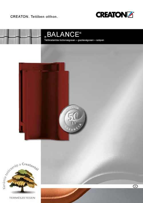 Creaton Balance tetőcserép katalógus