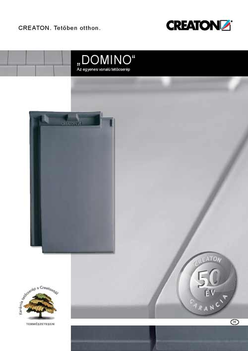 Creaton Domino tetőcserép katalógus