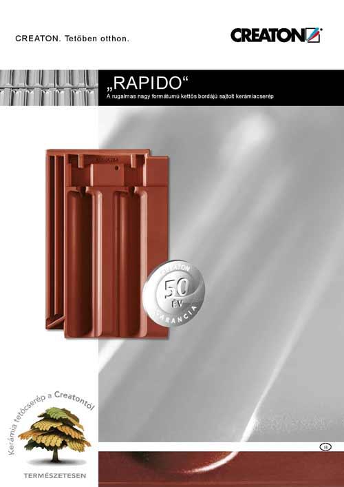 Creaton Rapido tetőcserép katalógus